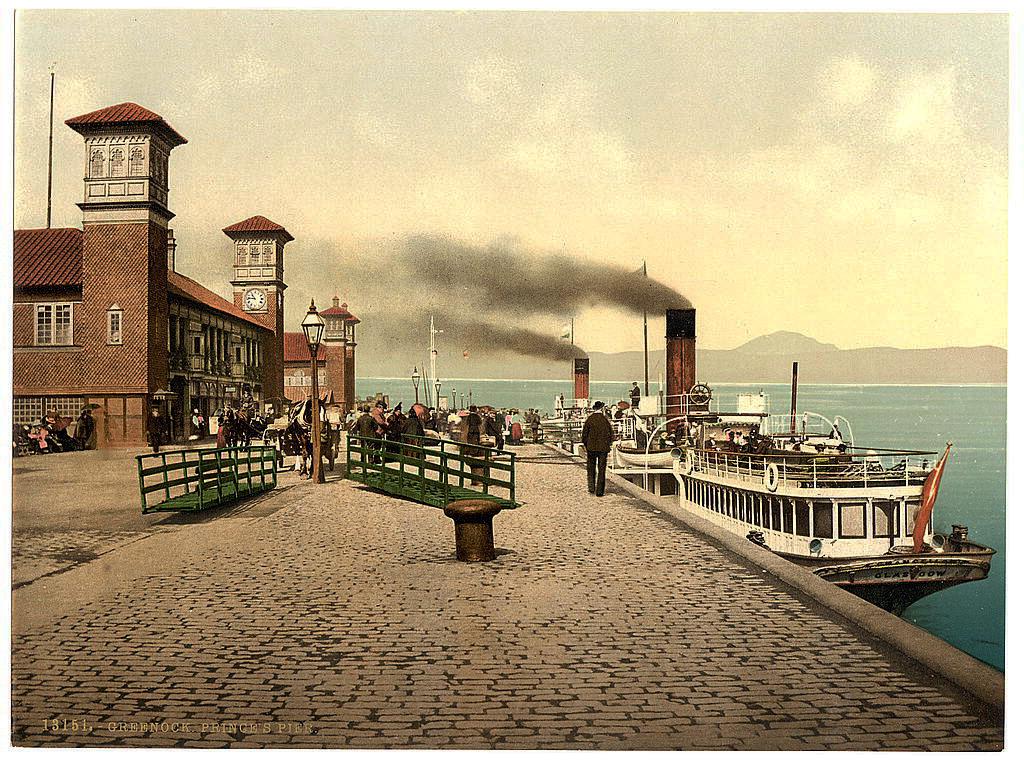 Шотландия в XIX веке. Город Абердин (Scotland, Aberdeen) Кинохроника 19 века. Ретро фото и видео Шотландии